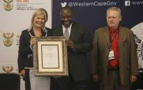 Western Cape Minister of Economic Opportunities, Beverley Schäfer, President of South Africa, Cyril Ramaphosa and Minister of Trade and Industry, Rob Davies at the launch of the Atlantis Special Economic Zone. Picture: Cindy Archillies/EWN