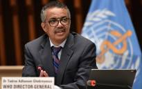 FILE: World Health Organisation (WHO) Director-General Tedros Adhanom Ghebreyesus on 3 July 2020 at the WHO headquarters in Geneva. Picture: AFP