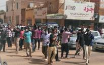 FILE: Sudanese protesters take part in an anti-government demonstration in Khartoum on 7 February 2019. Picture: AFP