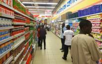 A file photo shows shoppers at the new South African retail giant Shoprite outlet in Kano, northern Nigeria. Picture: AFP.