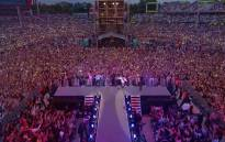 The Manchester benefit concert. Picture: screengrab/CNN