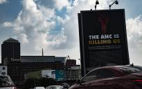 Vandalised DA billboard in Johannesburg. Picture: Kayleen Morgan/EWN