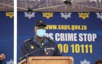 Gauteng Police Commissioner Elias Mawela addresses the  Olievenhoutbosch community during a crime prevention imbizo on 31 May 2021. Picture: SAPoliceService/Twitter