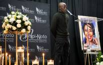 Kwaito artist Mzambiya, who worked with Mshoza at the beginning of her career, attended her memorial on 25 November, 2020. Picture: Xanderleigh Dookey/EWN.