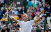 Rafael Nadal celebrates his victory over Nick Kyrgios at Wimbledon on 4 uly 2019. Picture: @Wimbledon/Twitter