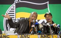 FILE: Jackson Mthembu and Minister Stella Ndabeni-Abrahams at a communications briefing at the ANC national policy conference on 5 July 2017. Picture: Thomas Holder/Eyewitness News.