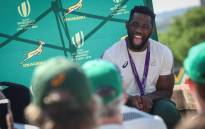 FILE: Springbok captain Siya Kolisi shares a laugh with supporters at the Union Buildings in Pretoria on 7 November 2019. Picture: Abigail Javier/EWN