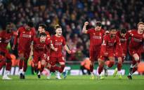Liverpool players celebrate after beating Arsenal in penalties on 30 October 2019. Picture: @LFC/Twitter.