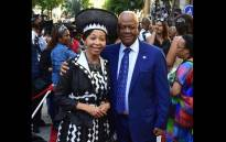 Minister Jeff Radebe and wife Bridgette Motsepe-Radebe arrive at the State of the Nation Address 2018 in Parliament, Cape Town. Picture: GCIS.