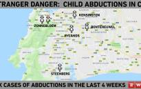 A heat map of areas targeted by abductions in the last four weeks. Picture: Bertram Malgas