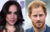 FILE: This combination of file photos shows Meghan Markle and Britain's Prince Harry. Picture: AFP.