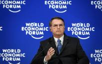 Brazilian President Jair Bolsonaro gestures as he delivers a speech during the World Economic Forum (WEF) annual meeting on 22 January 2019 in Davos, eastern Switzerland. Picture: AFP