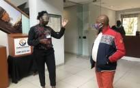 City of Joburg Finance MMC Jolidee Matongo (right) visits the Sandton customer service centre on 19 May 2020. Picture: @MatongoMmc/Twitter