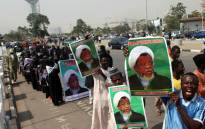 In this file photo taken on 22 January 2019, members of Islamic Movement in Nigeria take part in a demonstration against the detention of their leader Ibrahim Zakzaky, in Abuja. Picture: AFP.
