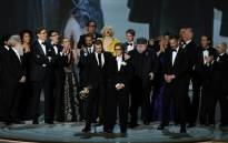"Writer-producer D.B. Weiss (C-L) and the cast of ""Game of Thrones"" accept the award Outstanding Drama series onstage during the 70th Emmy Awards in Los Angeles on 17 September 2018. Picture: AFP"