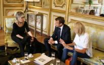 FILE: Animal rights activist Brigitte Bardot meets French President Emmanuel Macron and his wife Brigitte. Picture: @FBB_World/Twitter
