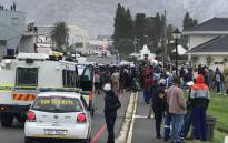 A group of residents gathered in Zwelihle, Hermanus, ro protest against the employment of foreign nationals. Picture: Supplied