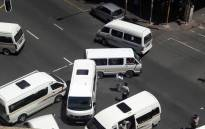 FILE: Taxi drivers belonging to rival taxi associations barricading of several streets in the Johannesburg CBD by taxi drivers. Picture: EWN Traffic.