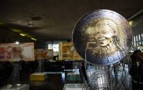 The new five rand coin launched in celebration of Nelson Mandela's centenary year. Picture: Kayleen Morgan/EWN