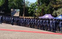 Members of the South African Police Service at a commemoration event held for fallen officers on 1 September 2019. Picture: @SAPoliceService/Twitter.