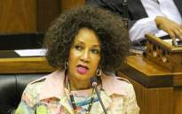 Human Settlements, Water and Sanitation Minister Lindiwe Sisulu during her department's budget vote held in Parliament on 10 July 2019. Picture: @The_DHS/Twitter