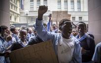 Students from Masiphumelele High to the Western Cape Education Dept to demand better schooling.Picture: Thomas Holder/EWN