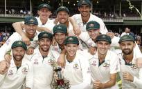 Australian players celebrate their series victory over New Zealand on 6 January 2020. Picture: @cricketcomau/Twitter
