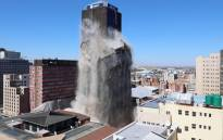 As the Bank of Lisbon building has been demolished on 24 November 2019. Picture: Ahmed Kajee/EWN