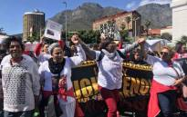 Residents from crime-riddled and gang-infested communities in Cape Town march to Parliament on 3 October 2018. Picture: Kaylynn Palm/EWN.