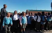 Grade 1 learners at the new Menzi Primary School in Tsakane in Ekurhuleni, Gauteng on 9 January 2019. Picture: EWN