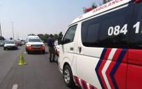 A man was killed after he was hit by a truck tyre on the N1 south-bound highway between the Malibongwe and Beyers Naude offramps in Randburg. Picture: @ER24EMS/Twitter.