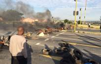 Police are monitoring a protest in Riverlea in south-west Johannesburg where demonstrators barricaded roads with burning tyres and logs on 13 March 2017. Picture: @nxumalo4