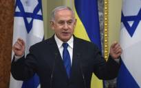 Israeli Prime Minister Benjamin Netanyahu (L) speaks during a joint press conference with Ukrainian President in the Ukrainian capital Kiev, on 19 August 2019. Picture: AFP