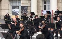 The Cape Town Philharmonic Orchestra performs outside the Groote Schuur Hospital in Cape Town on 15 September 2021. Picture: Kevin Brandt/Eyewitness News