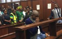 Thabani Mzolo, who is accused of shooting and killing his ex-girlfriend Zolile Khumalo at a Mangosuthu University of Technology residence earlier this year, in the Durban magistrates court on 19 June 2018. Picture: Ziyanda Ngcobo/EWN