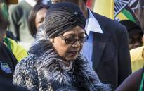 At her home in Soweto, Winnie Madikizela-Mandela urged all South Africans to vote for the ANC on August 3rd 2016. Picture: Thomas Holder/EWN