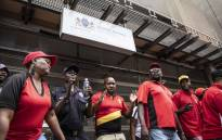 West Rand district municipality employees protested over unpaid salaries outside the office of the Gauteng premier on 14 November 2018. Picture: Abigail Javier/EWN.