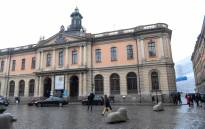 FILE: The old Stock Exchange Building, home of the Swedish Academy in Stockholm. The Swedish Academy, a council of authors and linguists tasked with furthering the Swedish language, is responsible for awarding the Nobel Prize for literature. Picture: AFP.