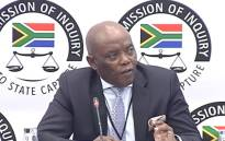 A screengrab of the former head of state protocol Bruce Koloane appearing at the Zondo Commission on 8 July 2019.