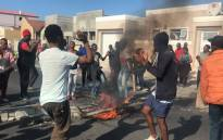 Khayelitsha residents protest on 11 April 2019. Picture: Kaylynn Palm/EWN