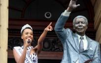 Miss Universe Zozibini Tunzi at the Grand Parade in Cape Town. Picture: Kaylynn Palm/EWN