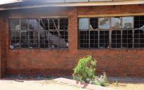 Khutlo-Tharo Secondary School in Sebokeng after a fire broke out in the early hours of 15 January 2020. Picture: Ahmed Kajee/EWN