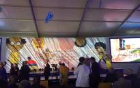 The stage for the the Nelson Mandela Children's Hospital launch. Picture: Ziyanda Ngcobo/EWN.