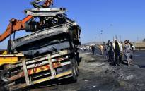 Burnt-out truck on the N3 near Mooi River Toll Plaza, KwaZulu-Natal Provincial Government @KZNGOV