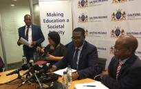 Gauteng Education MEC Panyaza Lesufi addressing the media on Thursday, 01 November 2018. He says from the 16,000 grade 1-8 learners who were not placed in schools earlier this week, this number has come down to over 6,000.  Picture: Robinson Nqola/EWN
