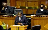Finance Minister Tito Mboweni delivers his medium-term budget policy statement on 28 October 2020. Image: @tito_mboweni/Twitter