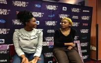 Didintle Khunou and Sebe Leotlela, lead performers in The Colour Purple - The Musical. Picture: Katleho Sekhoto/EWN