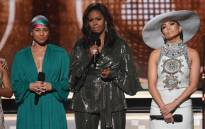 Alicia Keys, Michelle Obama, and Jennifer Lopez speak onstage during the 61st Annual Grammy Awards at Staples Centre on 10 February 2019 in Los Angeles, California. Picture: AFP.
