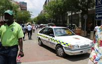 The informal traders are protesting for a second day against what they say is ill-treatment by Tshwane Metro Police. Picture: Sebabatso Mosamo/EWN