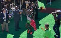 2019 Comrades Marathon winner, Edwin Mothibi. Picture: @ComradesRace/Twitter